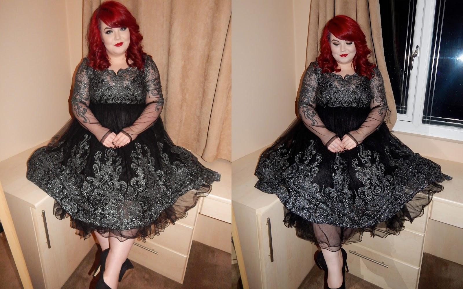 Chi Chi London Lottie Dress, Plus Size Blogger