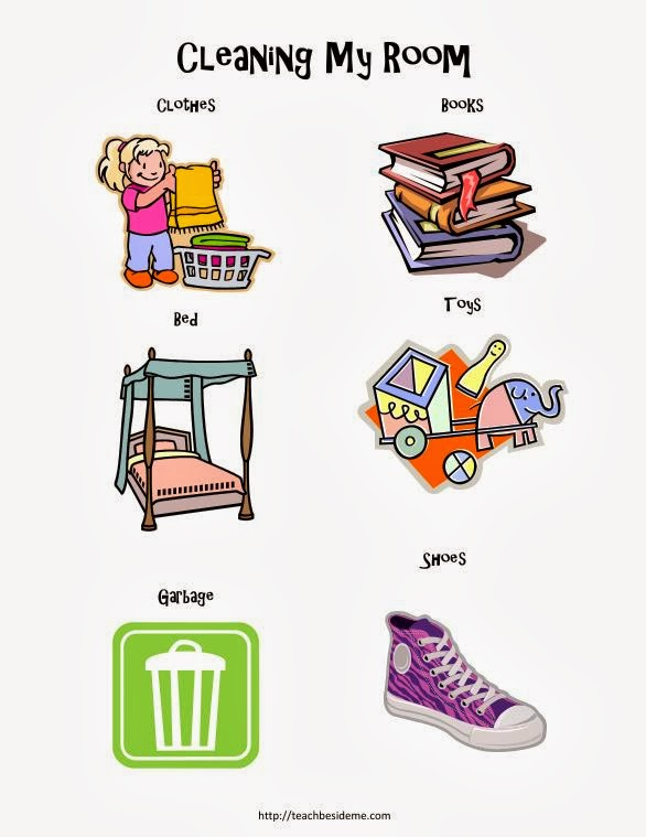Room Cleaning Chart for Toddlers and Preschoolers - Teach ...