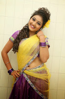 TV Anchor Priyanka in Half Saree Navel Show still-5