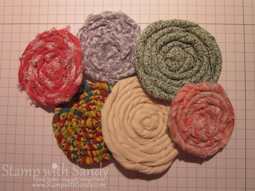 Coiled Fabric Flowers Tutorial
