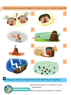 Respuestas Apoyo Primaria Español 2do grado Bloque 2 lección 17 La leyenda del maíz