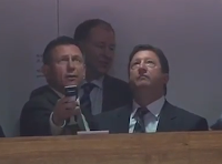 NHL GMs Ken Holland and Steve Tambellini have trouble using remote control