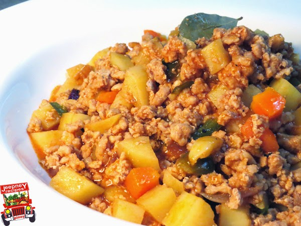 A bowl of Pork Giniling Guisado Recipe