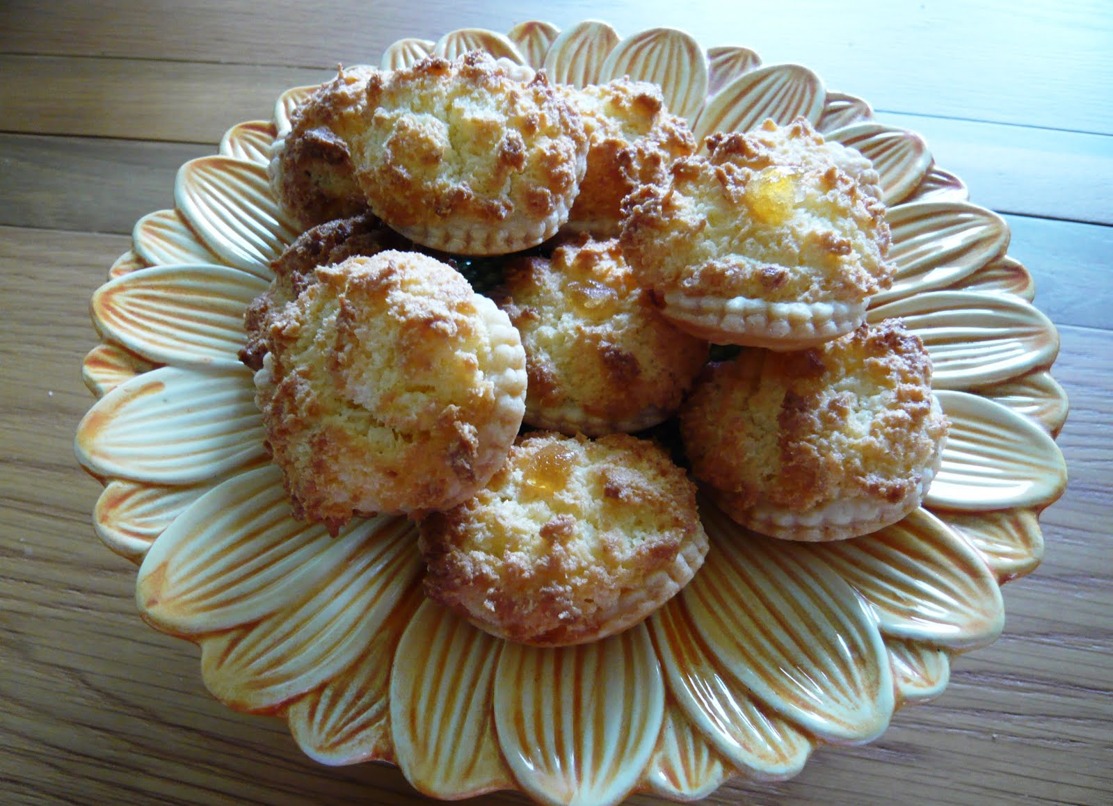 ginger and coconut tarts