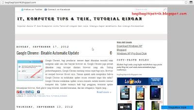 Tampilan Blog Biasa
