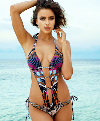 sport illustrated swimsuit model Irina Shayk looks so hot in sexy bikini for Beach Bunny swimwear model