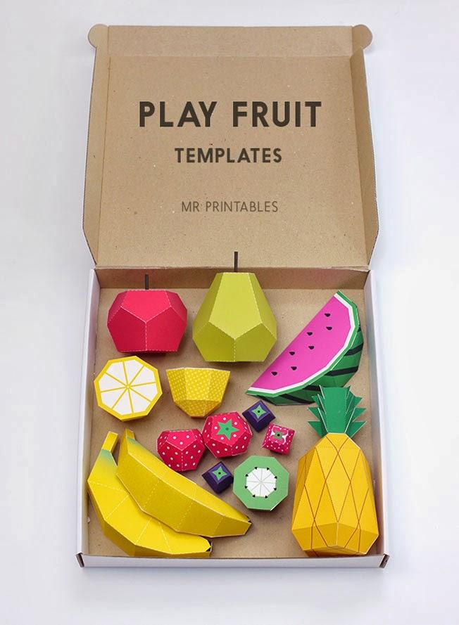 Rica fruta de papel