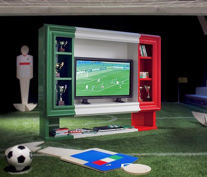 El Mundial de Futbol llega a la decoración Mueble seleccion italiana