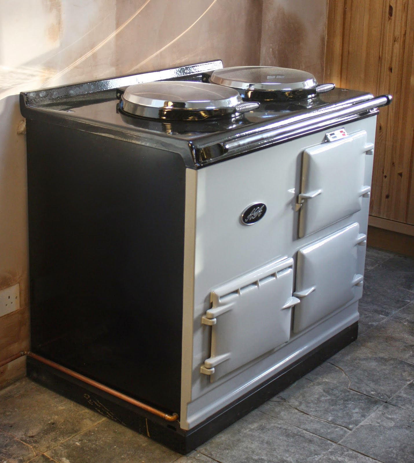 build aga - 8. chrome lids & enamel doors