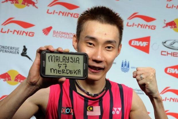 lee chong wei badminton dunia 2014