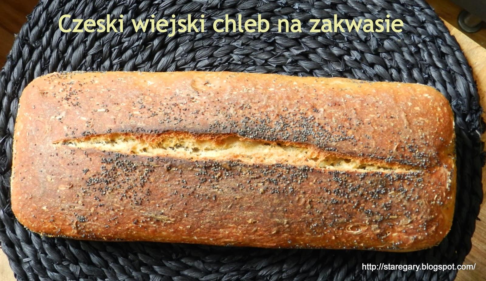 Czeski wiejski chleb na zakwasie