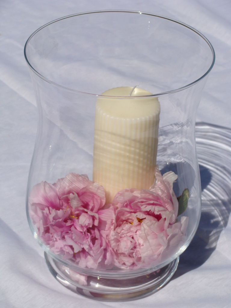 Id et photo d coration mariage centre de table en verre for Centre de table gourmandise