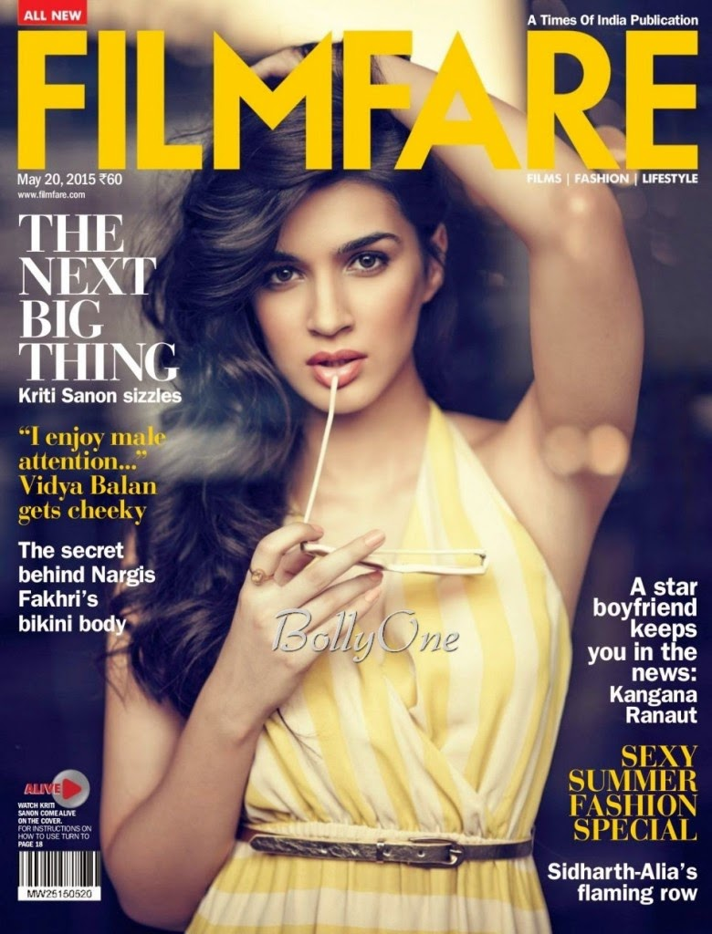 Model, Actress @ Kriti Sanon - Filmfare India, May 2015