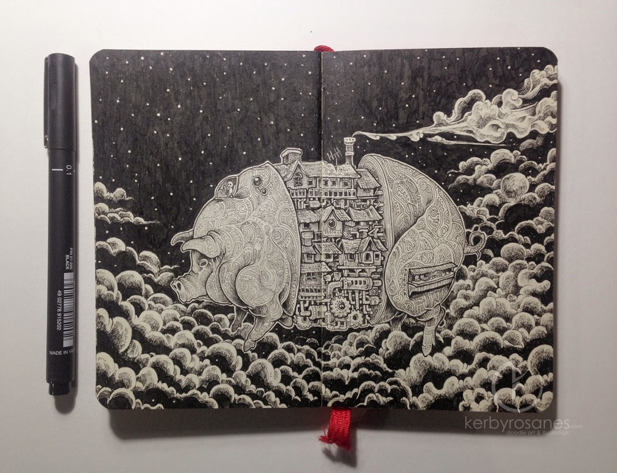 16-I-see-weird-things-Kerby-Rosanes-Detailed-Moleskine-Doodles-Illustrations-and-Drawings-www-designstack-co