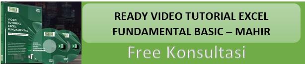 Ready Video Tutorial Excel Fundamental (Basic - Mahir)