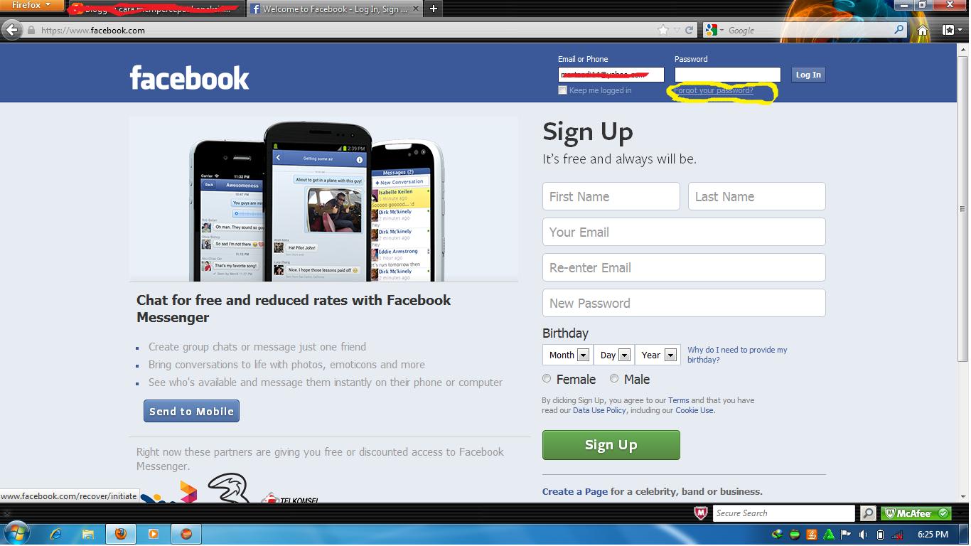 mengembalikan facebook yang di hack | Cara memulihkan akun facebook ...