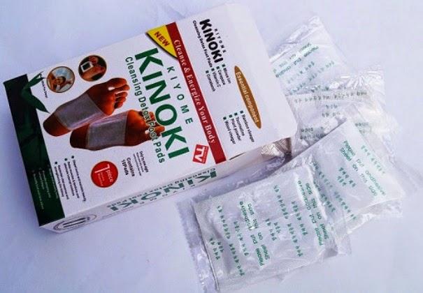 Kiyome Kinoki White Foot Detox Pads Andiherbal.com