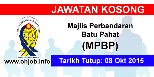 Jawatan Kerja Kosong Majlis Perbandaran Batu Pahat (MPBP) logo www.ohjob.info oktober 2015