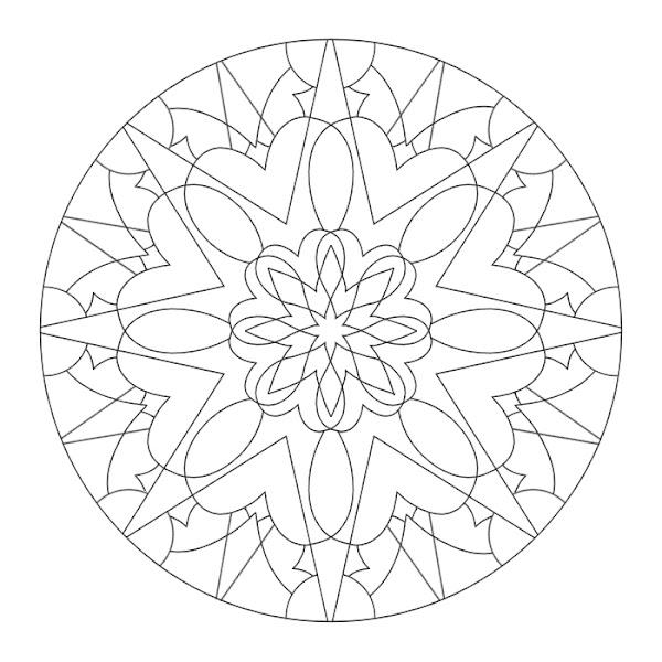 Moon Mandala Coloring Pages