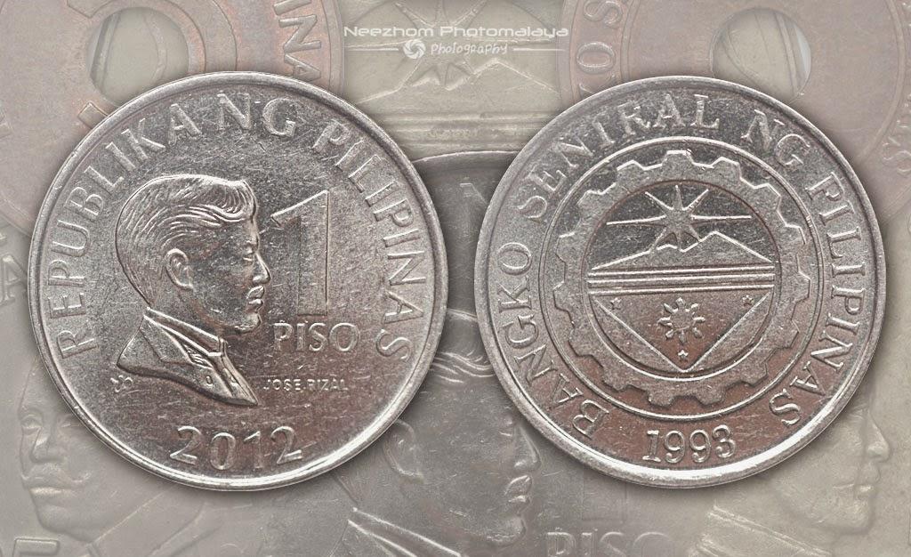 Duit syiling Filipina 1 Piso 2012