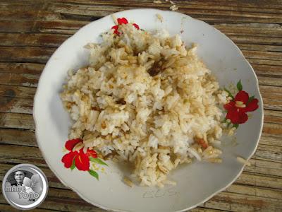 Kuah katel... Nasi di goreng sisa menggoreng sambal