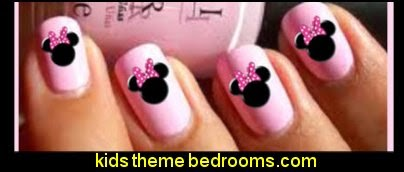 MINNIE MOUSE NAIL ART WATER TRANSFER DECALS WRAPS STICKERS - Decorating Theme Bedrooms - Maries Manor: Mickey Mouse Themed Nails