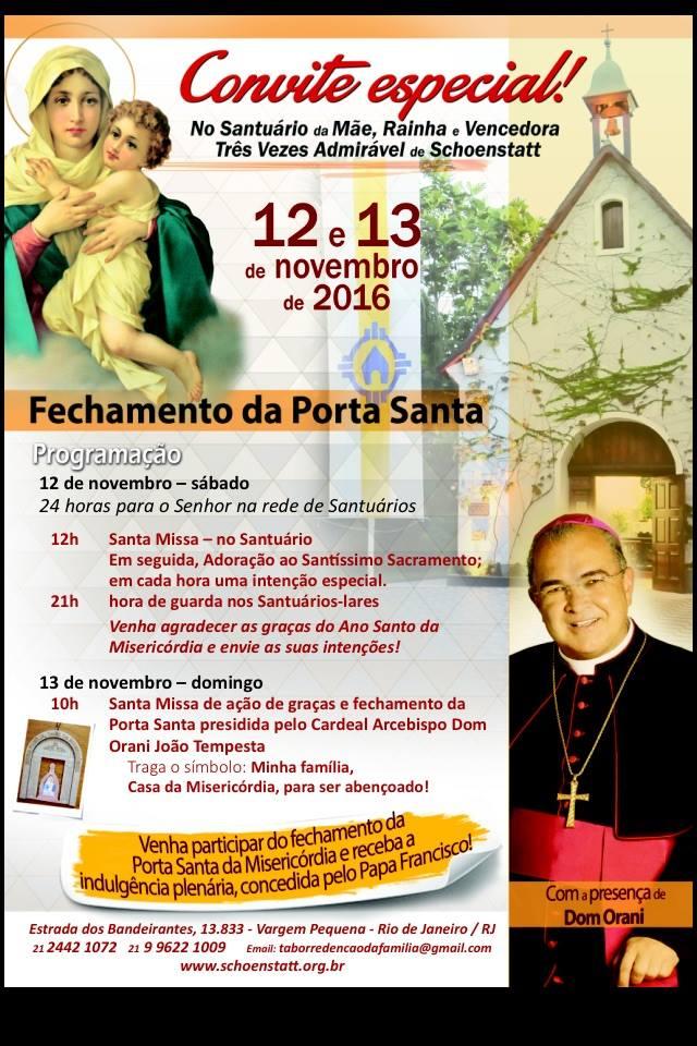 SANTUÁRIO DA MÃE RAINHA NO RECREIO - RIO DE JANEIRO - FECHAMENTO DA PORTA SANTA