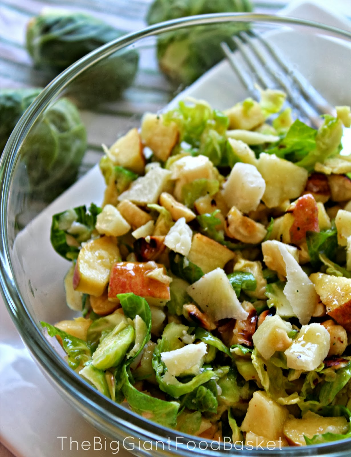 The Big Giant Food Basket: Delicate Brussels Sprouts Salad