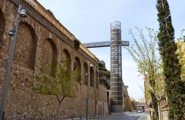 Torre-ascensor panorámico de Cartagena.