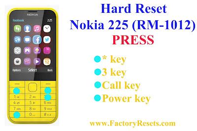 Hard Reset Nokia 225