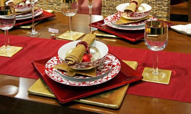 Multinotas mesa decoraci n navide a dorado - Mesa navidena decoracion ...