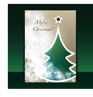 クリスマスツリーのリーフレット見本 beautiful christmas leaflets イラスト素材