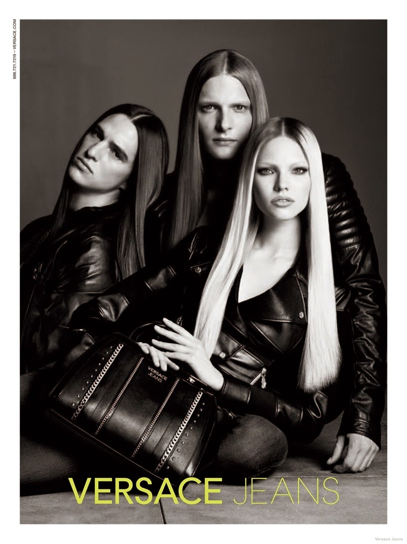 Versace Jeans Fall/Winter 2014 Campaign starring Sasha Luss and Paul Corona