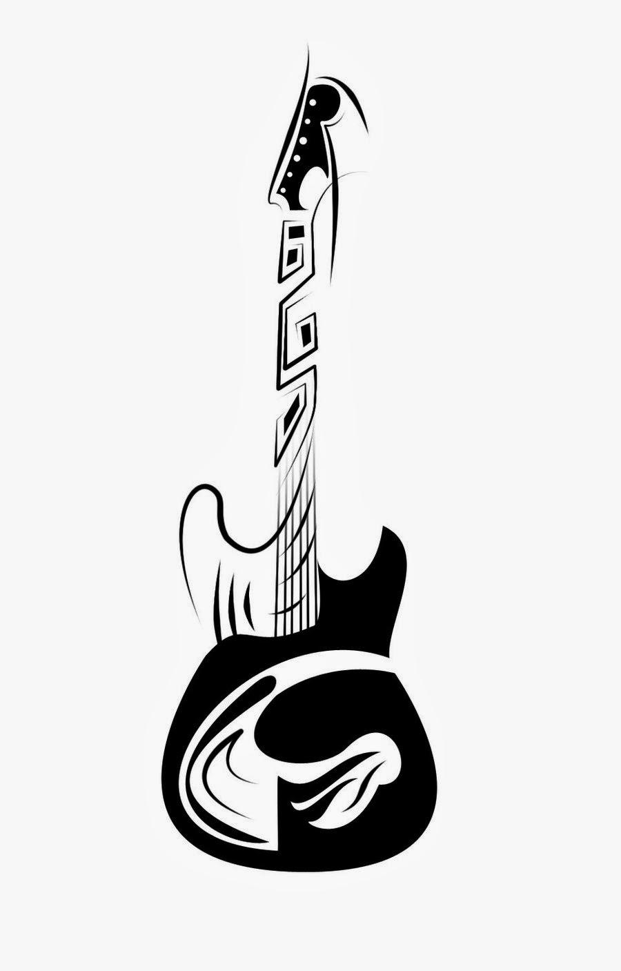 Tribal guitar tattoo designsAcoustic Guitar Drawing Tattoo