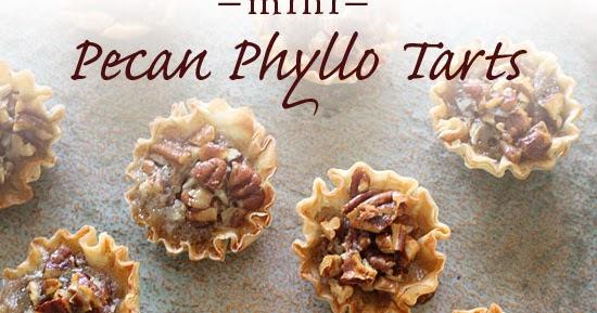 Mini Pecan Phyllo Tarts   Skinnytaste