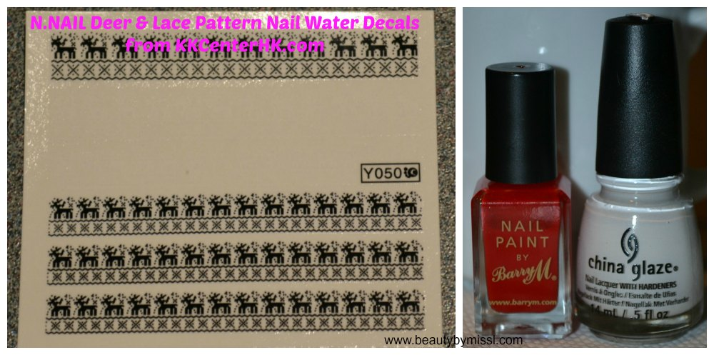 deer water decals from KKCenterHk, Barry M Bright Red, China Glaze White on White