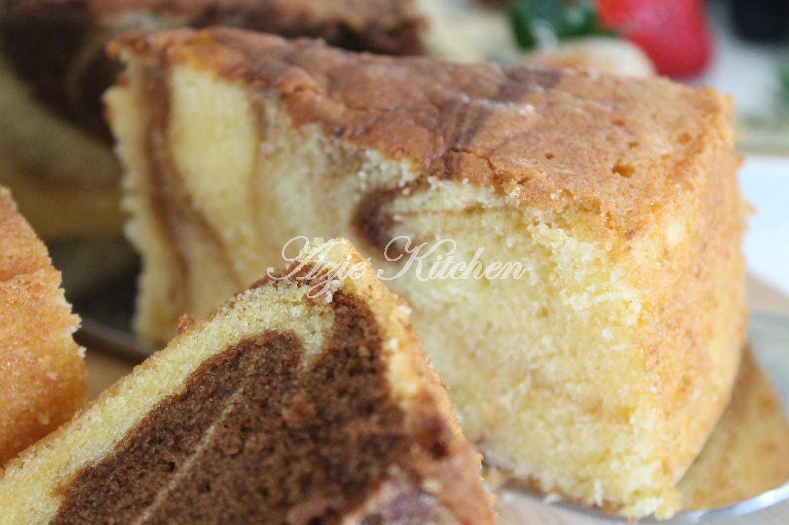 Kek Marble Yang Sangat Gebu Azie Kitchen