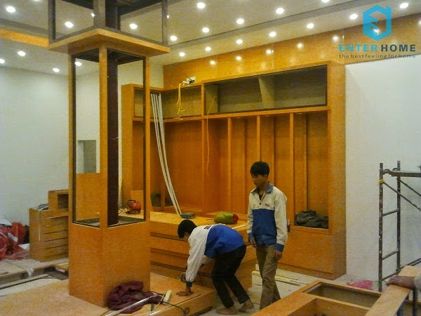 Thiết kế showroom Việt Trung audio