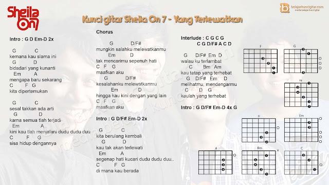 belajar kunci gitar sheila on 7 yang terlewatkan lengkap dengan gambar kunci gitar