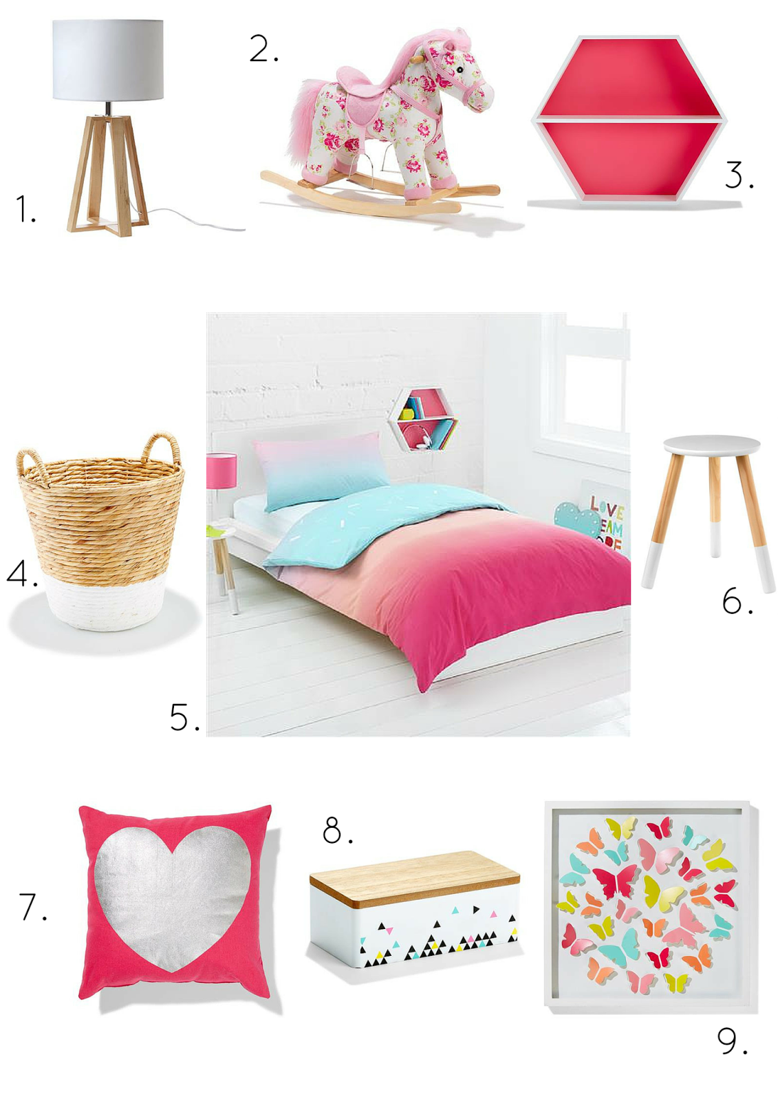 Styling kids rooms on a kmart budget glamour coastal living for Room decoration products
