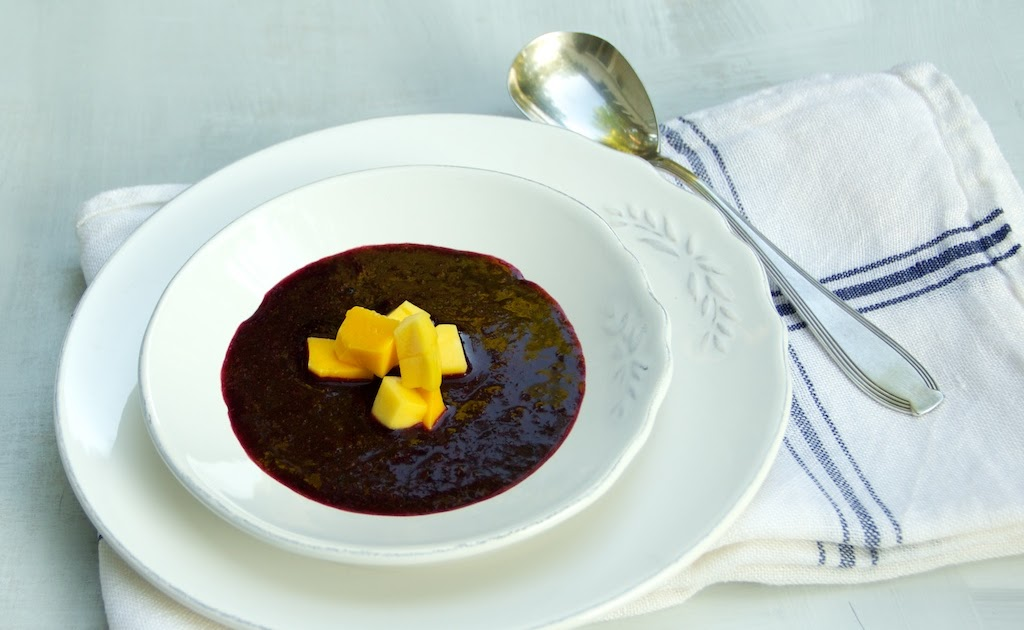 Freshfromevaskitchen Blueberry Mango Soup