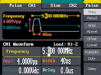 The WaveStation 2000's Pulse waveform dialog box.
