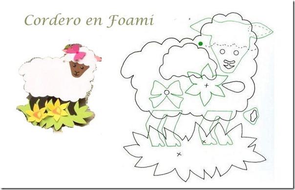 Moldes de ovejas en foami - Imagui