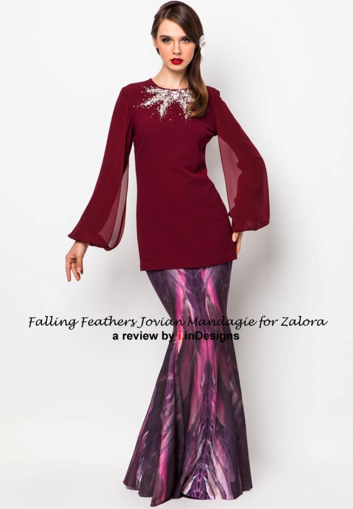 Falling Feathers by JM for Zalora Awesome Baju Hari Raya Design