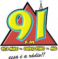 ouvir a Rádio 91 FM 91,3 Ouro Fino MG
