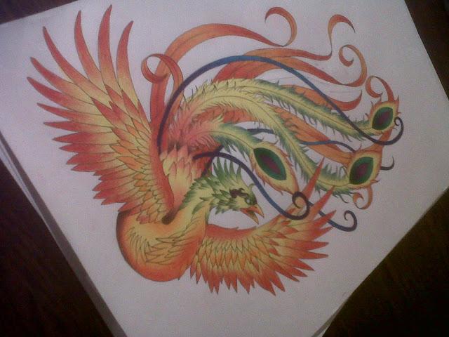 tattoo f nix desenho de fenix colorida para tattoo. Black Bedroom Furniture Sets. Home Design Ideas