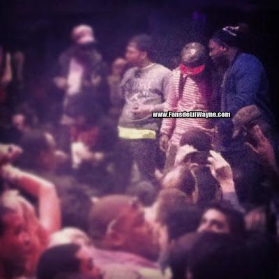 fotos raras de lil wayne t-streets marley g y mack maine en el club liv