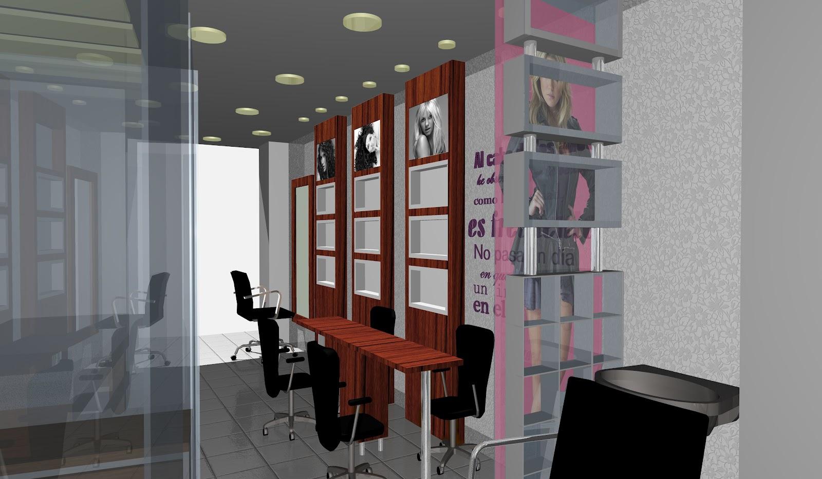 Muebles dise os y proyectos dise ar un salon de belleza - Modelos de estores para salon ...