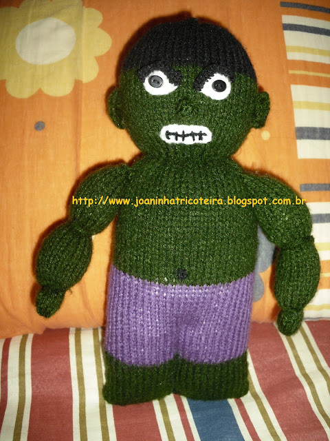 o incrível Hulk boneco tricot