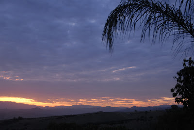 daybreak over the mountains